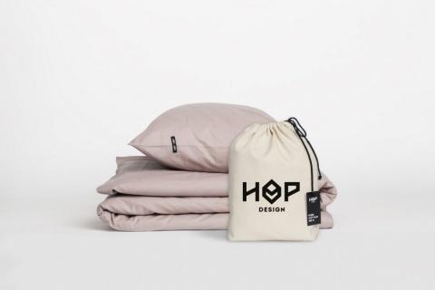 Lenjerie de pat bumbac roz ecologic HOP DESIGN