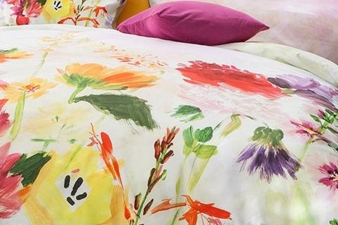 Lenjeria de pat GARDEN este fabricată 100% din bumbac mako satinat.