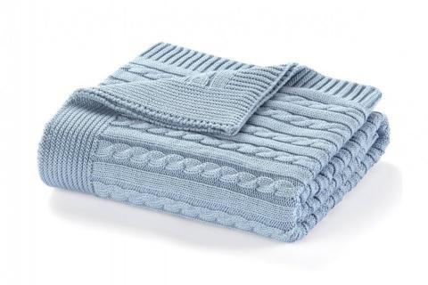 Pătura albastră pentru copii ELIE 90x90 cm
