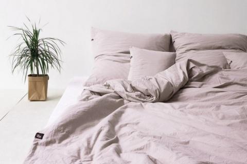 Cearsaf roz bumbac ecologic Producator HOP DESIGN
